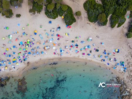foto con Drone spiaggia vista dall'alto